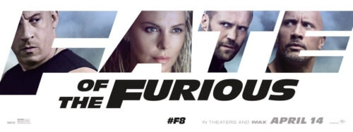 vin diesel, charlize theron, jason statham, dwayne johnson the fate of the furious banner