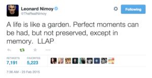 nimoy final tweet