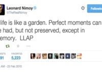 Leonard Nimoy. March 26 1931 – February 27 2015.
