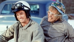 From Left: Lloyd Christmas (Jim Carrey) and Harry Dunne (Jeff Daniels) image Credit: MTV