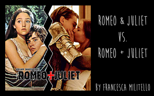 romeo and juliet film comparison essay Essay films are made with the directors different personal opinions based on the original screenplay for the movie version of romeo + juliet (1996), the quote above.