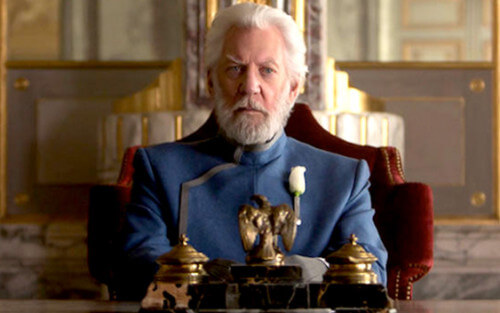 Donald Sutherland The Hunger Games series