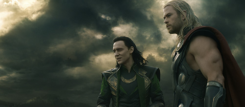 Thor 2 Tom Hiddleston Chris Hemsworth