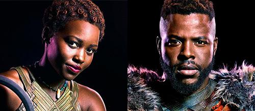 Lupita Nyong'o and Winston Duke Black Panther