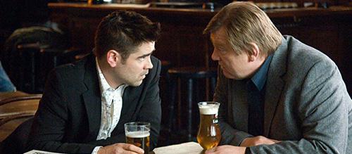 Colin Farrell Brendan Gleeson Beer In Bruges