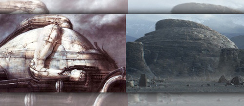 Temples in Alien and Dune