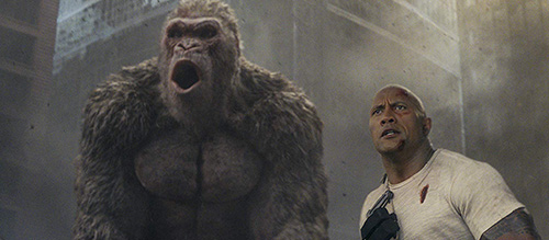 Dwayne Johnson Rampage Film