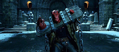 Hellboy Movie Still Perlman