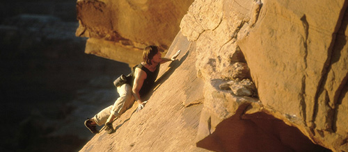 Tom Cruise Rock Climbing